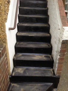 asphalt stairs