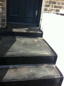 complete the customer enquiry for mastic asphalt steps